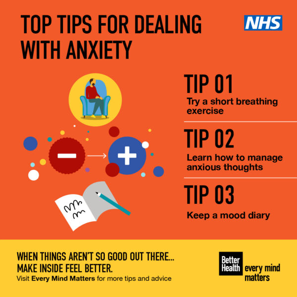 Tips for dealing with anxiety